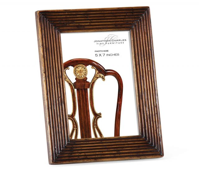 Jonathan Charles Walnut Ribbed Picture Frame 5x7