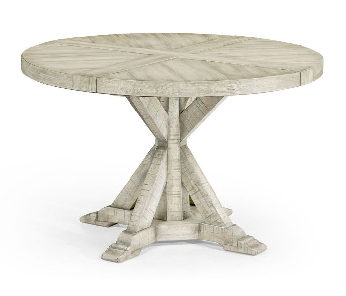 Jonathan Charles Round Dining Table, Whitewashed Round Dining Table