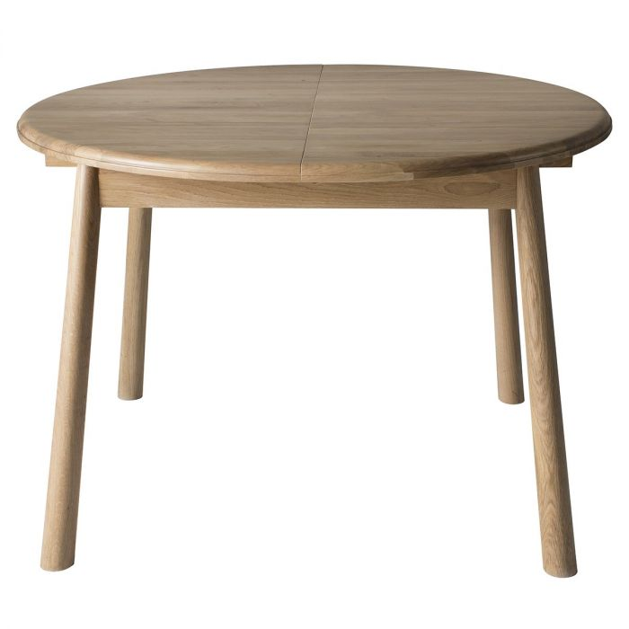 Pavilion Chic Round Extendable Dining, Round Dining Table With Extension Leaf