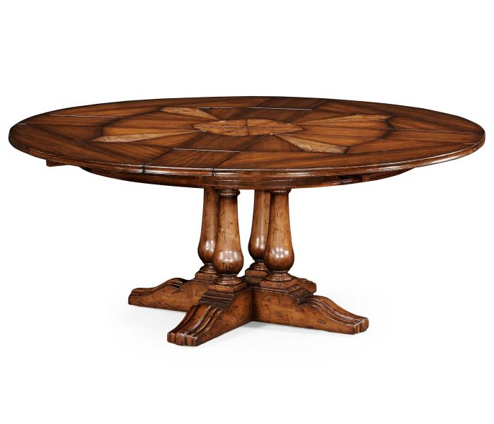 Round Extending Walnut Dining Table Pavilion Broadway