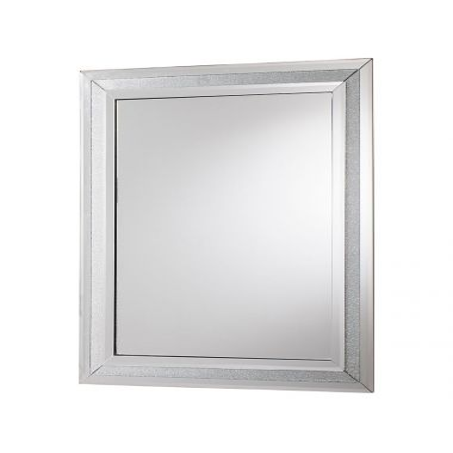 Pavilion Chic Zoe Silver Crackle Mirror | Pavilion Broadway