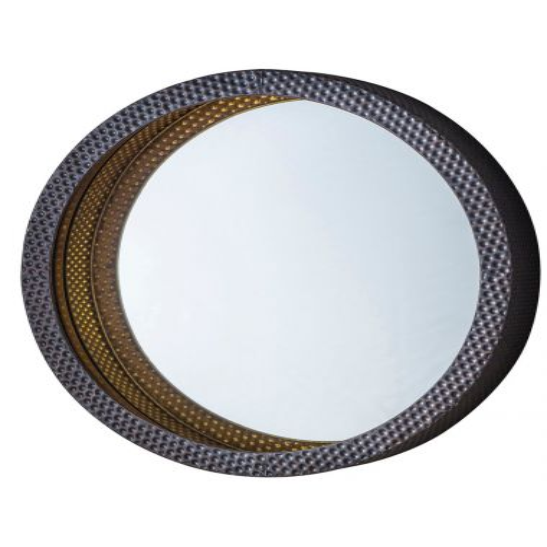 Pavilion Chic Bliss Hammered Metal Mirror | Pavilion Broadway