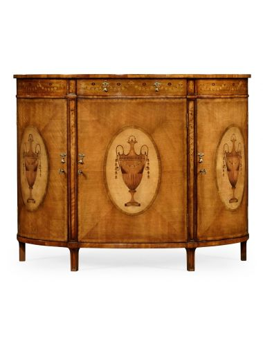 Jonathan Charles Demilune TV Cabinet with Lift Top | Pavilion Broadway