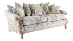 Duresta Wolfgang 3 Seater Sofa in Fortuny Damask Ivory