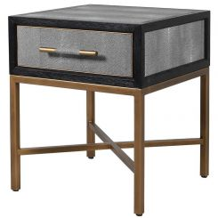 Pavilion Chic Huxley Faux Shagreen Bedside Table
