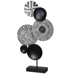 Pavilion Chic Black & White Standing Ornament