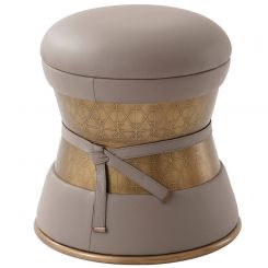 Theodore Alexander Stool Iconic in Leather