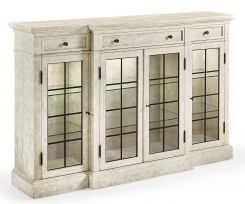 Jonathan Charles China Cabinet Rustic Breakfront