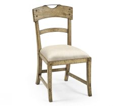 Jonathan Charles Light Driftwood Dining Chair Rustic Planked