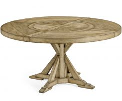 Jonathan Charles Small Round Dining Table Rustic on Bracket Base