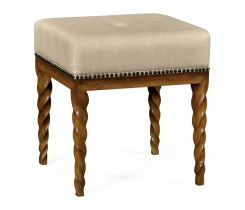 Jonathan Charles Barley Stool in Walnut