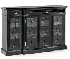 Jonathan Charles Wisconsin Breakfront Display Cabinet