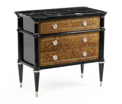 Jonathan Charles Wisconsin Bedside Table with Marble Top