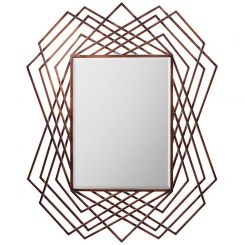 Pavilion Chic Withers Copper Geometric Mirror