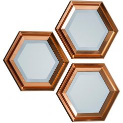 Pavilion Chic Honeycomb Hexagon Mirror Set