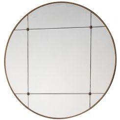 Pavilion Chic Croome Gold Round Wall Mirror