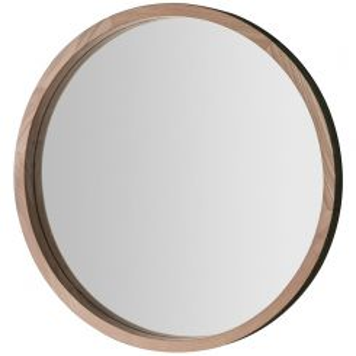 Pavilion Chic Letch Oak Round Mirror - Small