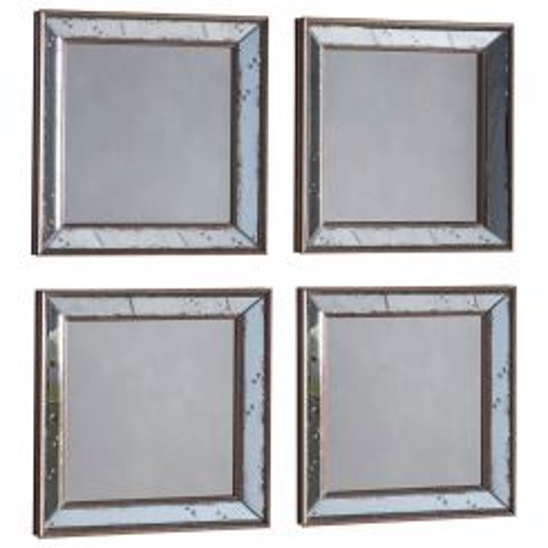 Pavilion Chic Chardwar Set of 4 Square Mirrors