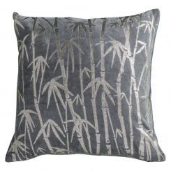 Pavilion Chic Palm Cushion Metallic Grey
