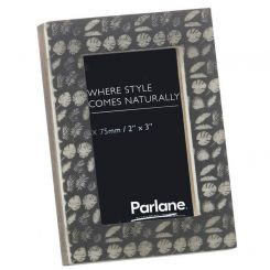 Parlane Leaves Rectangle Photo Frame - Grey