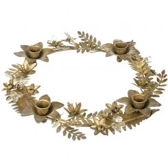 Parlane Candle Wreath - Gold
