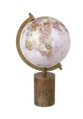 Parlane Pink World Globe on Base