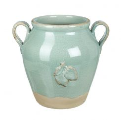 Parlane Wide Green Lime Vase