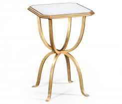 Jonathan Charles Octagonal Side Table Horseshoe - Gilded