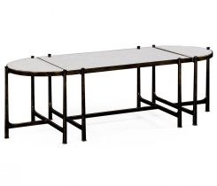 Jonathan Charles Bunching Coffee Table Trio Contemporary