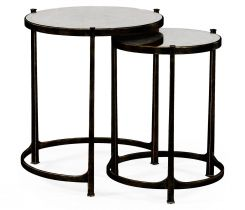 Jonathan Charles Round Nest of Tables Contemporary