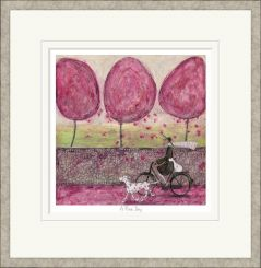 Pavilion Art A Pink Day by Sam Toft - Limited Edition Framed Print