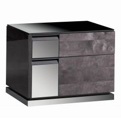 ALF Italia Bedside Cabinet Heritage with Mirrored Top