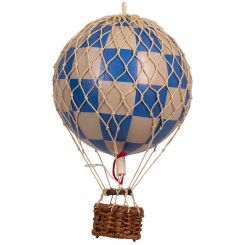 Authentic Models Hot Air Balloon Blue Check