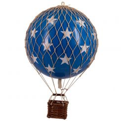 Authentic Models Hot Air Balloon Blue Stars