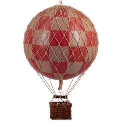 Authentic Models Hot Air Balloon Red Check