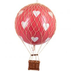 Authentic Models Hot Air Balloon Red Hearts