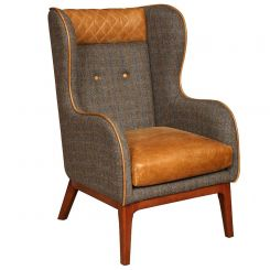 Carlton Furniture Armchair Keaton in Harris Tweed