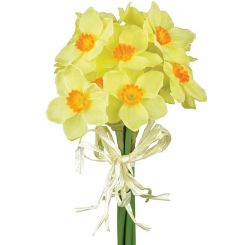 Pavilion Flowers Artificial Daffodil Bundle Yellow And Orange Height 27cm