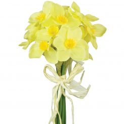 Pavilion Flowers Artificial Daffodil Bundle Yellow Height 27cm
