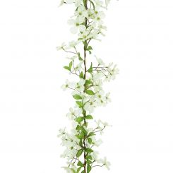 Pavilion Flowers Artificial Dogwood Garland White Length 150cm