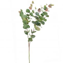 Pavilion Flowers Artificial Eucalyptus Green/Pink Height 100cm