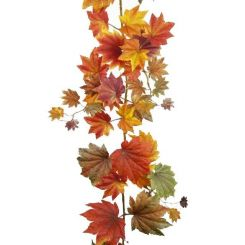 Pavilion Flowers Artificial Garland Maple Leaf L.182cm