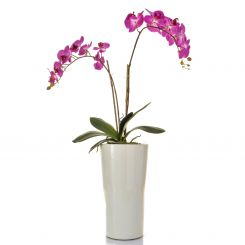 Pavilion Flowers Artificial Phalaenopsis Orchid Pink In Pot Height 90cm
