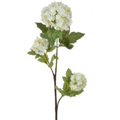 Pavilion Flowers Artificial Snowball Spray Cream Height 77cm