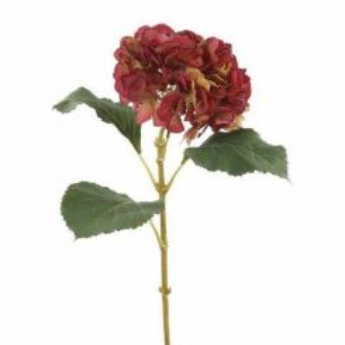 Pavilion Flowers Artificial Hydrangea Burgundy Height 75cm