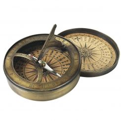 Authentic Models 18th Century Sundial & Compass
