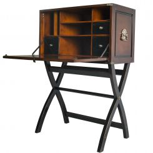 Authentic Models Campaign Cabinet Box Desk