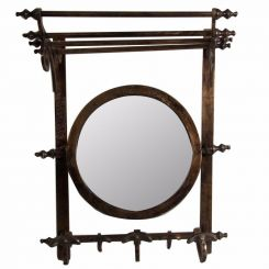 Authentic Models Coat Rack With Mirror