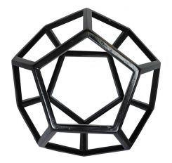 Authentic Models Dodecahedron In Black