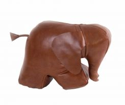 Authentic Models Doorstop Elephant in Leather